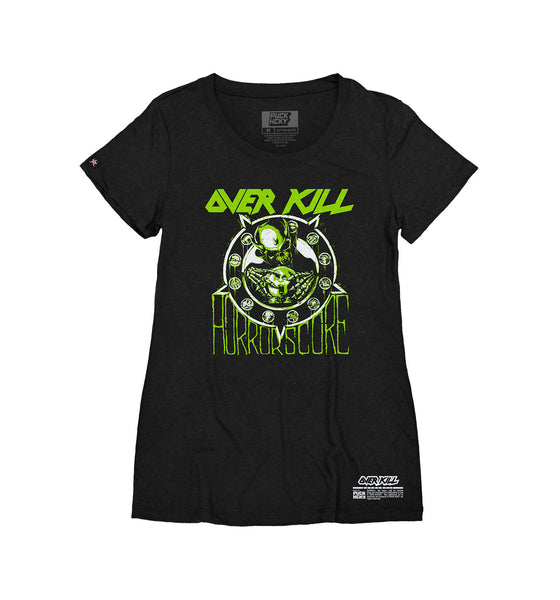 OVERKILL 'HORRORSCORE' women's short sleeve hockey t-shirt in black