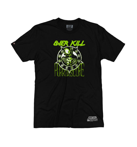 OVERKILL 'HORRORSCORE' short sleeve hockey t-shirt in black