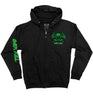 OVERKILL 'MASK OF DECAY' full zip hockey hoodie in black front view