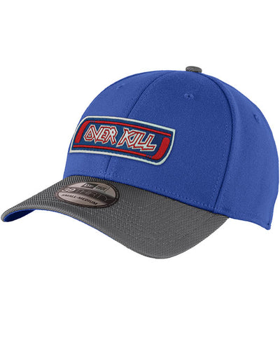 OVERKILL 'MEAN GREEN SLASHING MACHINE' stretch fit hockey cap in royal with charcoal brim