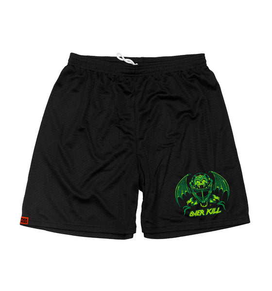 OVERKILL 'OFF-ICE mesh hockey shorts in black