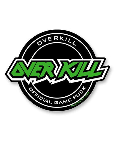 OVERKILL 'DON'T CARE' SNAPBACK HOCKEY CAP AUTOGRAPHED