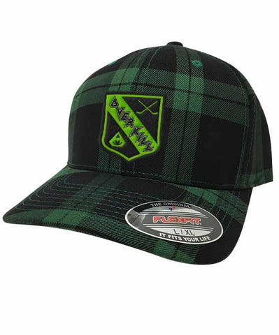 OVERKILL 'MEAN GREEN SLASHING MACHINE' STRETCH MESH HOCKEY CAP WITH CONTRAST STITCHING
