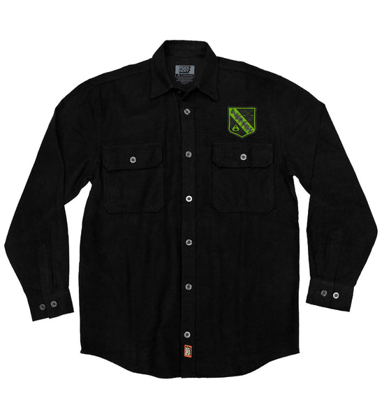 OVERKILL 'THE GREEN AND BLACK' hockey flannel in black