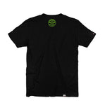 OVERKILL 'THE GREEN AND BLACK' short sleeve hockey t-shirt in black back view