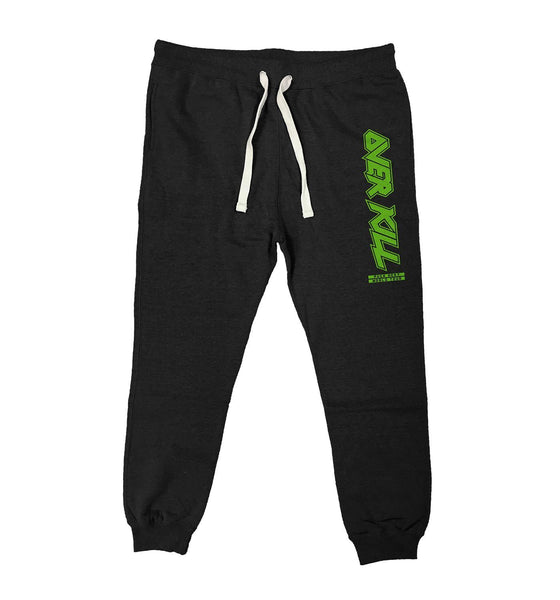 OVERKILL 'WORLD TOUR' performance hockey jogging pants in black heather