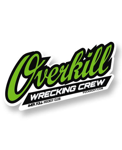 OVERKILL 'THE GREEN AND BLACK' ZIP HOCKEY HOODIE