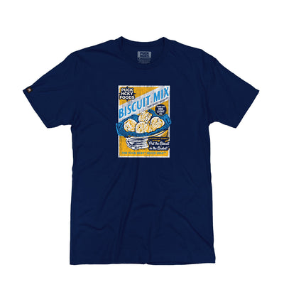 PUCK HCKY 'BISCUIT MIX' short sleeve hockey t-shirt in navy