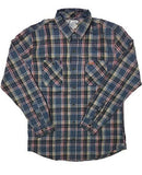 PUCK HCKY 'BREAKAWAY' hockey flannel in blue, black, and red plaid