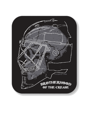PUCK HCKY 'BROTHERHOOD OF THE CREASE BANNER' HOCKEY STICKER