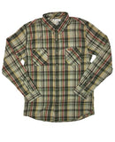 PUCK HCKY 'DEKE' hockey flannel in khaki plaid