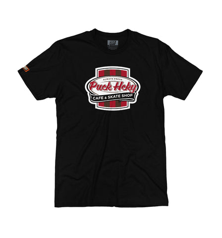 PUCK HCKY 'ANTI HOCKEY HOCKEY CLUB' POCKET T-SHIRT