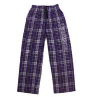 PUCK HCKY 'LOUNGE AROUND' flannel pants in purple plaid