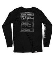 PUCK HCKY 'GLOVES OFF DELI' long sleeve hockey t-shirt in black back view