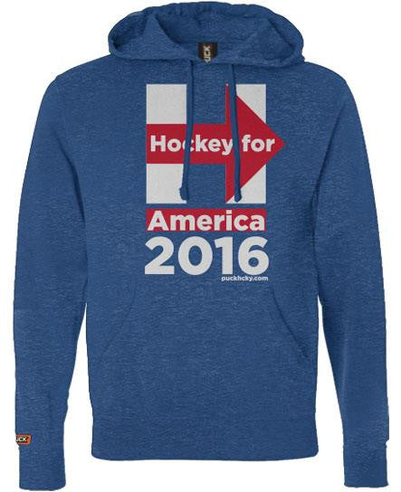 PUCK HCKY 'HOCKEY FOR AMERICA' pullover hockey hoodie front view