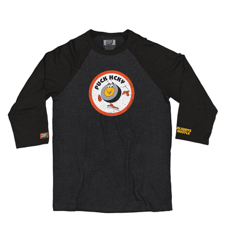 PUCK HCKY 'LACE EM UP' HOCKEY RAGLAN