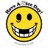 PUCK HCKY 'HAVE A (N)ICE DAY' hockey sticker