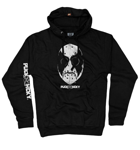 PUCK HCKY 'NONE MORE BLACK' pullover hockey hoodie in black