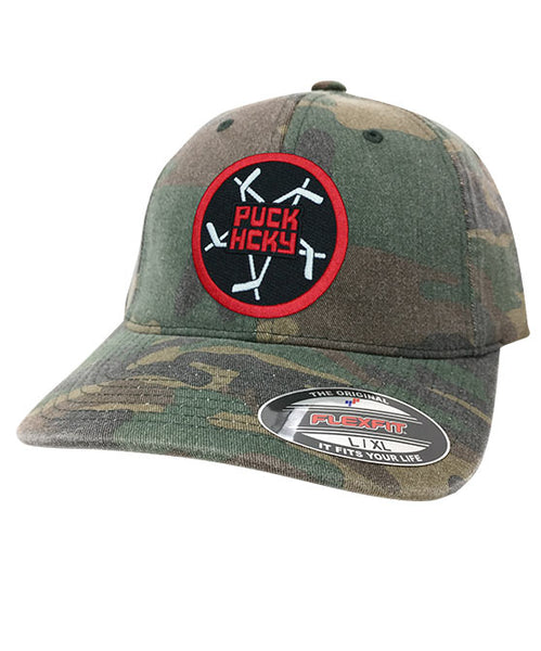 PUCK HCKY 'PENTASTICK' fitted hockey cap in green camo