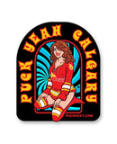 PUCK HCKY 'PIN UPS PUCK YEAH CALGARY' hockey stickers
