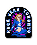 PUCK HCKY 'PIN UPS PUCK YEAH TORONTO' hockey stickers