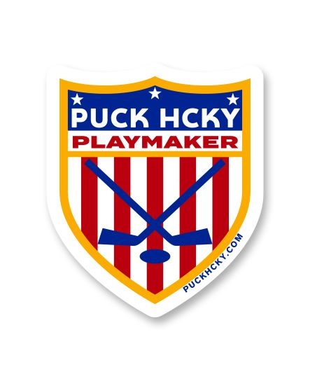 PUCK HCKY 'PLAYMAKER' hockey sticker