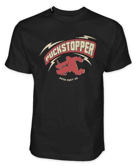 PUCK HCKY 'PUCKSTOPPER' short sleeve hockey t-shirt