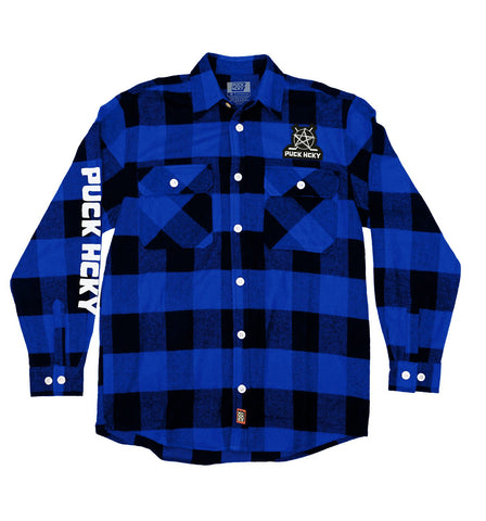 PUCK HCKY 'LAMP LIGHTERS UNION' HOCKEY FLANNEL (GREY PLAID)