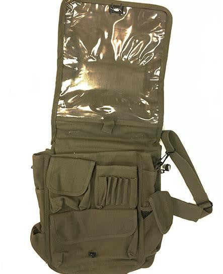 PUCK HCKY 'PUCK YEAH' sniper hockey bag in military green open flap