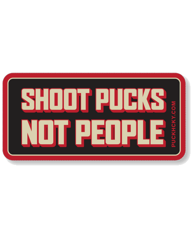 PUCK HCKY 'SHOOT PUCKS NOT PEOPLE' SNAPBACK HOCKEY CAP (round patch)