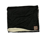 PUCK HCKY 'STACKED' hockey blanket in black