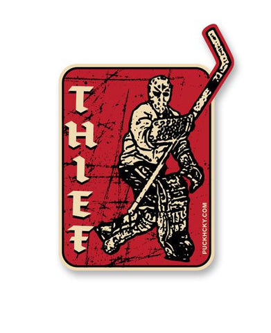 PUCK HCKY 'HUSTLER' HOCKEY STICKER