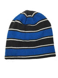 PUCK HCKY 'WAFFLE KNIT' hockey hat in charcoal heather/blue