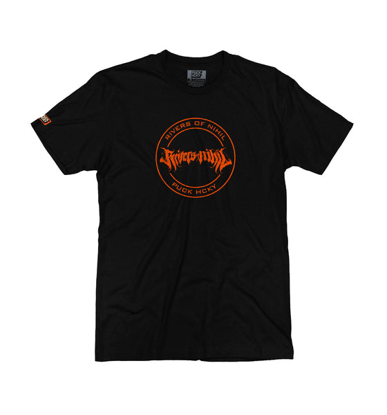 RIVERS OF NIHIL 'OFFICIAL PUCK' short sleeve hockey t-shirt in black