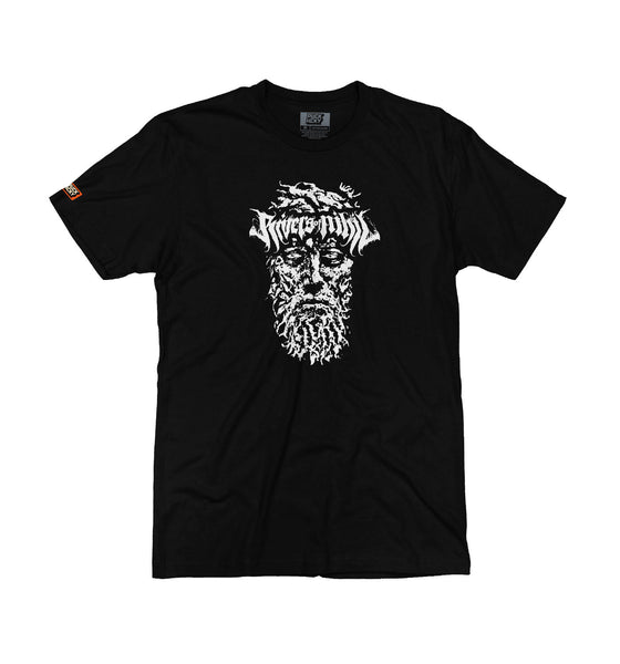 RIVERS OF NIHIL 'PLAYOFF BEARD' short sleeve hockey t-shirt in black