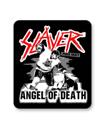 SLAYER 'ANGEL OF DEATH' hockey sticker