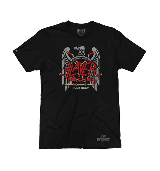 SLAYER 'FIGHT TILL DEATH' short sleeve hockey t-shirt in black