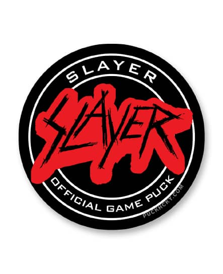 SLAYER 'OFFICIAL PUCK' hockey sticker