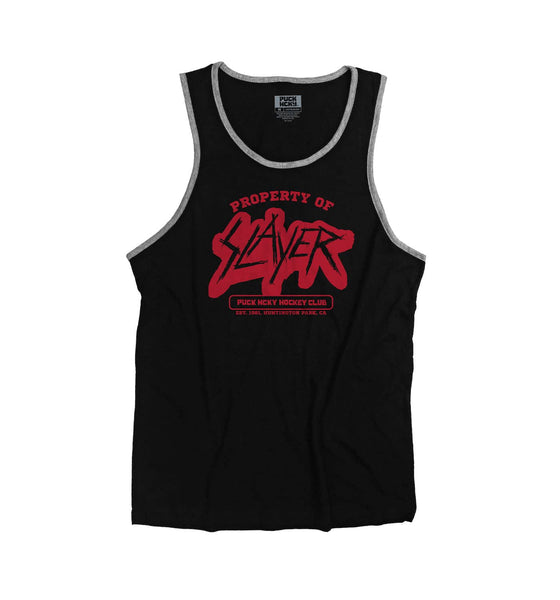 SLAYER 'PROPERTY OF' hockey tank top in black