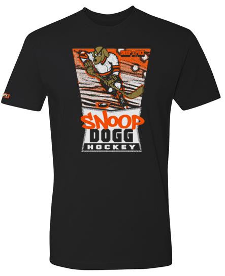 SNOOP DOGG 'DOGGY STYLE' short sleeve hockey t-shirt in solid black