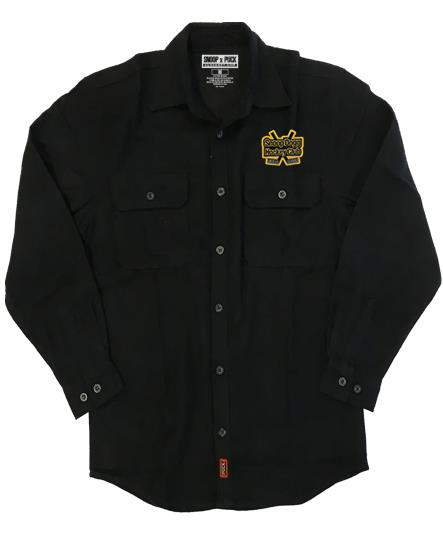 SNOOP DOGG 'GREATER ONE' hockey flannel in solid black