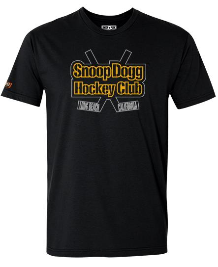 SNOOP DOGG 'GREATER ONE' short sleeve hockey t-shirt in solid black