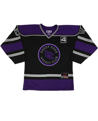 SNOOP DOGG 'GREATER ONE' HOCKEY JERSEY (BLACK/GOLD/WHITE)