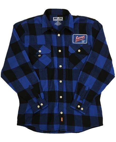 SNOOP DOGG 'PUCK DODGER' hockey flannel in blue plaid