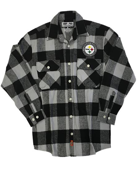 SNOOP DOGG 'SNOOPBURGH' hockey flannel in grey plaid