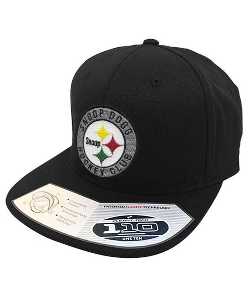 SNOOP DOGG 'SNOOPBURGH' flat bill snapback hockey cap in black