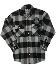 SNOOP DOGG 'THE KING' hockey flannel in grey plaid