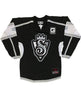 SNOOP DOGG 'THE KING' hockey jersey in black, grey, and white front view