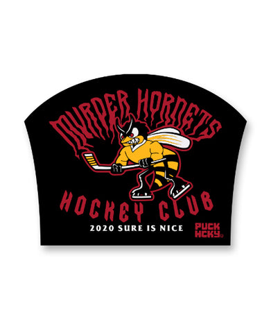 PUCK HCKY 'SHOOT PUCKS NOT PEOPLE STENCIL' HOCKEY STICKER