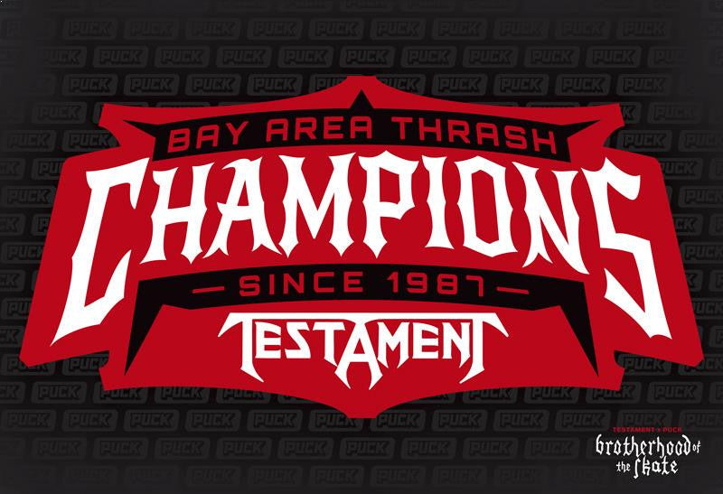 TESTAMENT 'CHAMPIONS' hockey poster